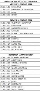 scaletta 2014